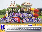 Servicios de construcción de juegos infantiles, baños portátiles y otros fabricantes de bolivia