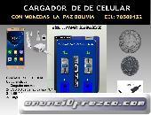 CARGADOR DE CELULAR CON MONEDAS 2