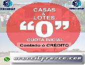 OFERTA DE CASAS Y TERRENOS CON