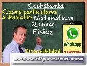 Cochabamba. Clases Matematicas, Fisica, Quimica