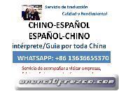 Traductor interprete de chino español en Shanghai Canton