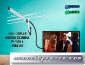 ANTENA EXTERNA TV FULL HD VHF / UHF / FM