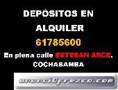ALQUILER DE LOCALES COMERCIALES Y/ DEPOSITOS CEL:61785600