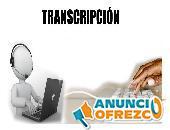 Se realizan transcripciones de texto, audios y formatos de tesis