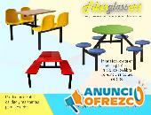 Mesas y sillas de alto tráfico