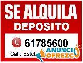 ALQUILER DEPOSITOS - CALLE ESTEBAN ARCE